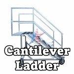 Cantilever Ladder aluminum 500lb cap
