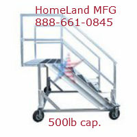 Cantilever Ladder aluminum with handrails