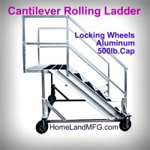 Aluminum cantilever ladders with 500lb capacity