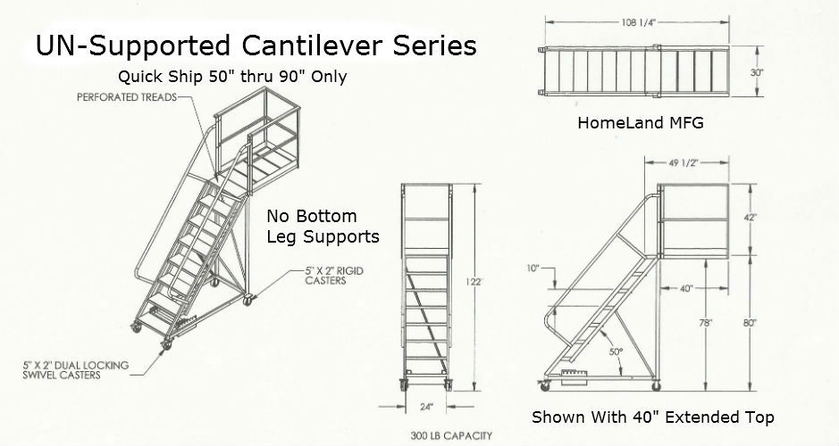 Cantilever Unsupported drawing