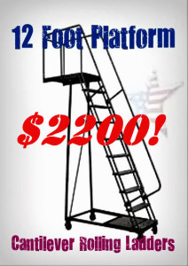"Cantilever Ladder 140"" deck height"
