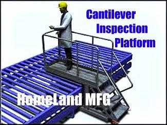 cantilever ladder inspection platform
