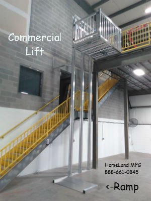 Commercial Cargo Lift with RAMP