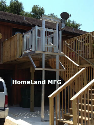 cargo lift from car port to wood decking