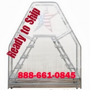 double entry ladder ready to ship on a pallet