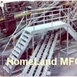 Cross Over Ladder; Steel Or Aluminum