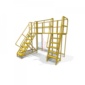 double entry stationary work platform
