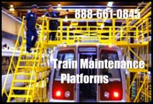 Custom Rail Car Maintenance Platforms
