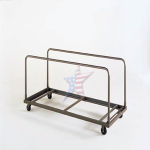 storage cart with wheels for folding tables