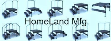 3 step work platforms with handrails