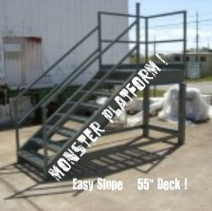 Industrial Stairway with deck and exit