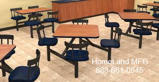Cafeteria tables cluster seating