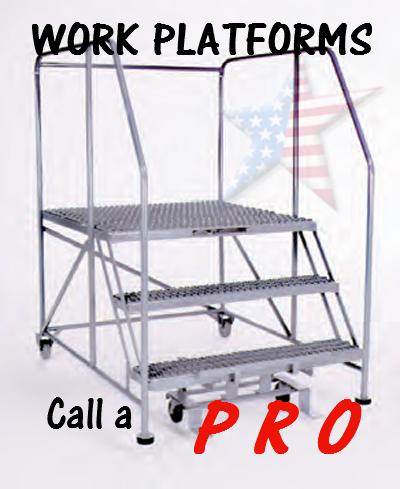 Maintenance-work-platform 3 step serrated treads