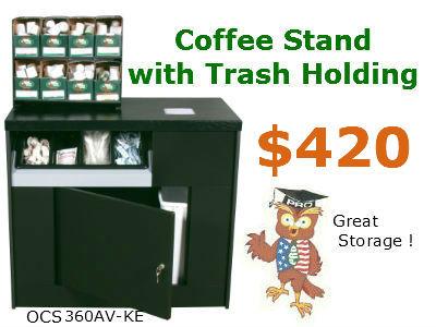 OCS-360-coffee stand with trash bin