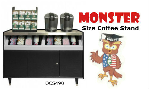 OSC 490 coffee stand black with stainless top