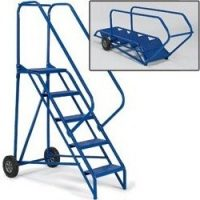 "folding rolling ladder 10"" wheels"
