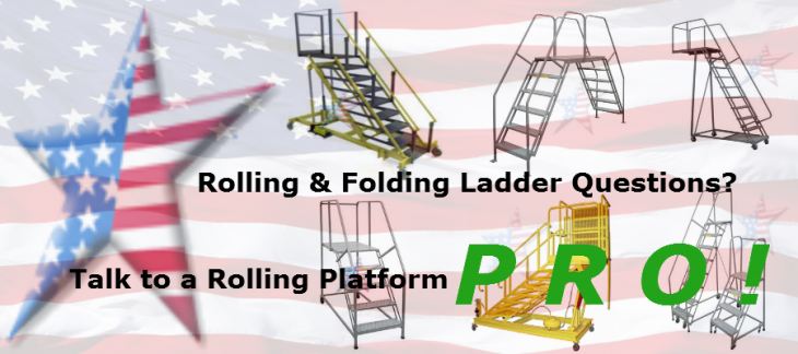 Rolling-Folding-Ladder steel and aluminum