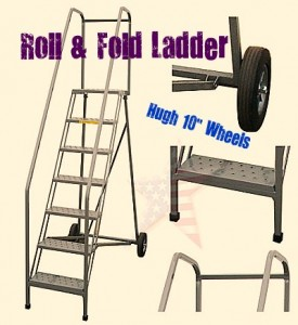 Rolling-Folding-ladder