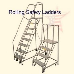 Rolling Warehouse Ladder (2)