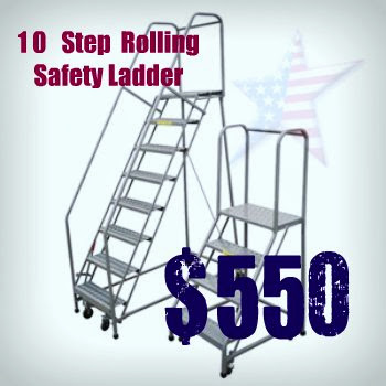 Rolling Warehouse Ladder
