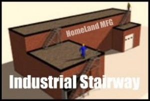 Industrial Stairway for Roof Access