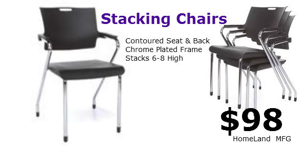 Smart stacking chairs-304-P