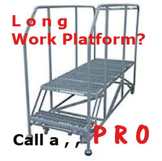 2 step work platform long decking