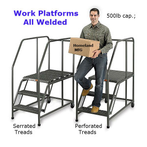 Work Platform 3 step steel or aluminum