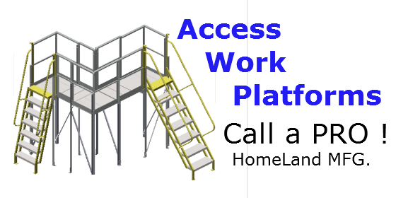 work platform two stairways