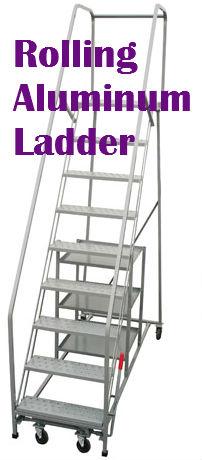 rolling aluminum ladder