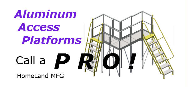 aluminum-ladder with platform