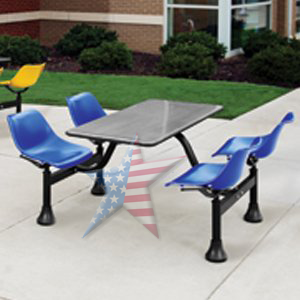 Cafeteria breakroom seating with powder coated seats