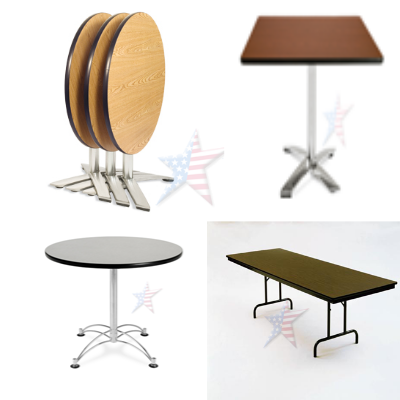 folding tables round and square