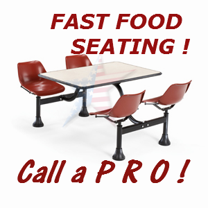 Fast food Cafeteria Seating all stainless