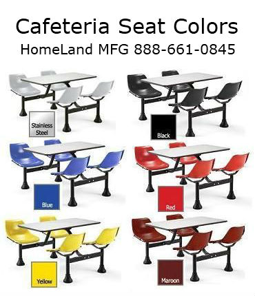 OFM 1004 cafeteria seat color chart