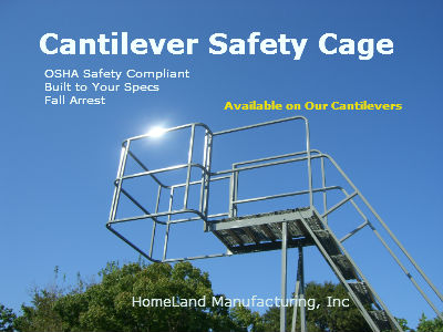 cantilever ladder cage