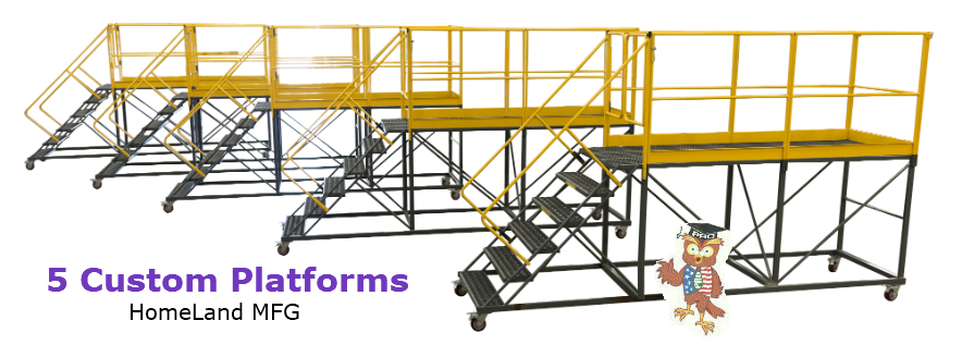 custom ladders 5 identical rolling platforms
