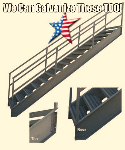 industrial-stairs galvanized with OSHA compliance