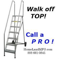 maintenance platforms with walk off top deck
