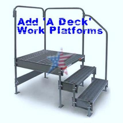 maintenance work platform 3 step side exit