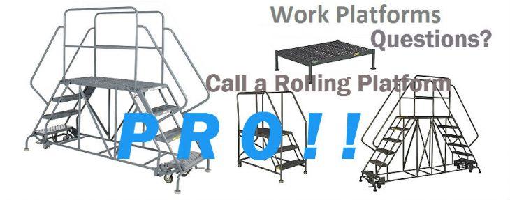 maintenance-work-platform 4 designs all aluminum