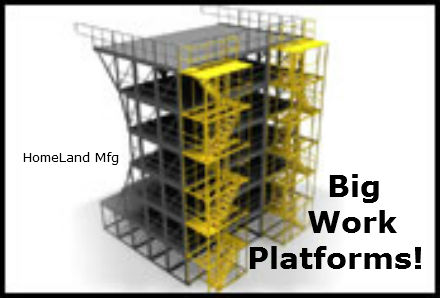 steel maintenance work platform