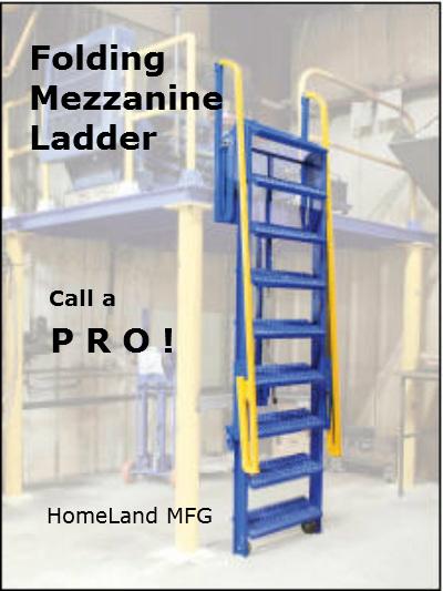 folding access ladder deck access