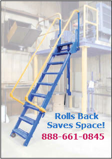 Access ladder for limited space