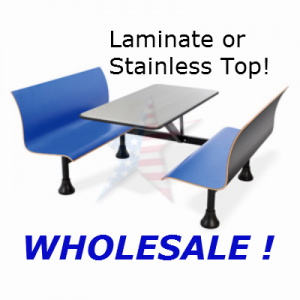 ofm1006w blue bench seats stainless top