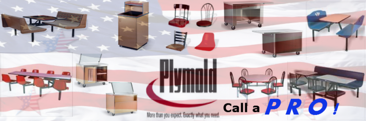 plymold cafeteria tables display