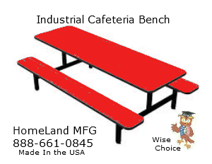 industrial bench seating in red