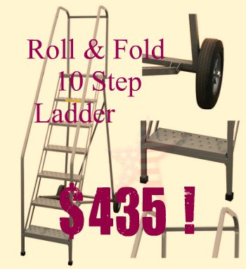 "RV wash ladder with 10"" wheels"