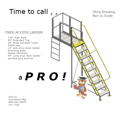 rolling-ladders with 10' deck height