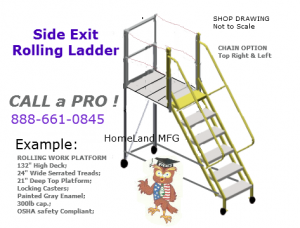 warehouse rolling ladder